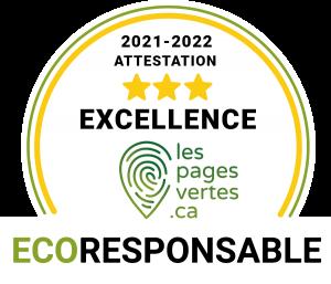 Aniela Mieko se distingue par son engagement écoresponsable et a reçu la mention d'excellence par le répertoire des entreprises écoresponsables du Québec, Les pages vertes